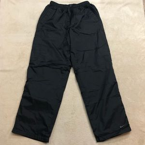 Nike Men's Athletic Black Track Pants, Size L